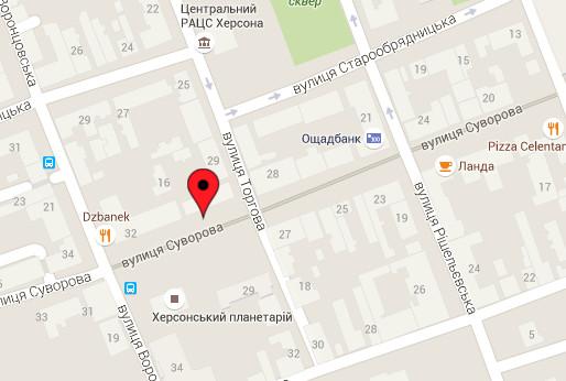 Як дістатись до КДКА - карта Гугл